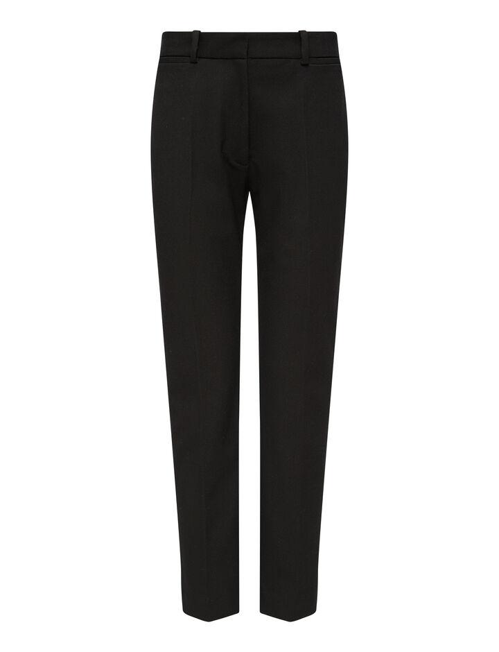Joseph, Gabardine Stretch Tahis Trousers, in BLACK