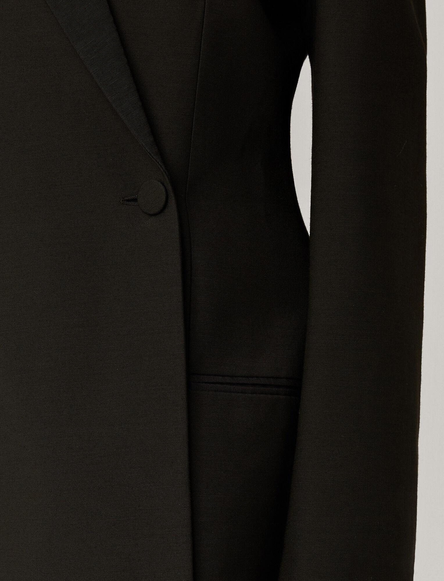 Joseph, Wool Silk Tux Joplin Jacket, in BLACK