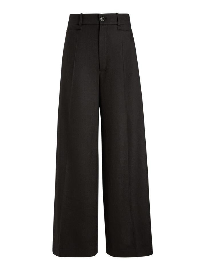 Joseph, Dana Flannel Stretch Trousers, in BLACK