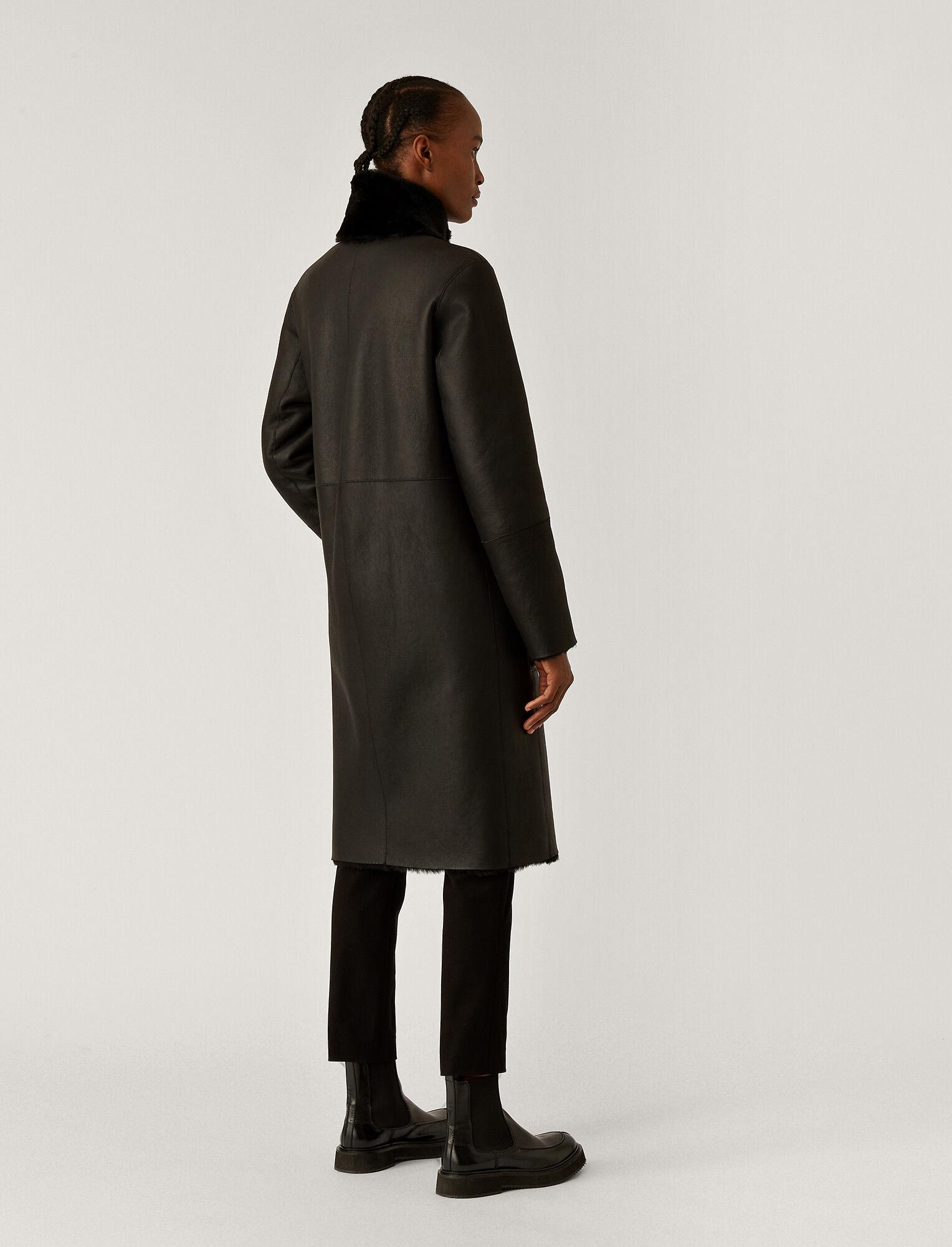 Joseph, Britanny Polar Skin Sheepskin, in Black
