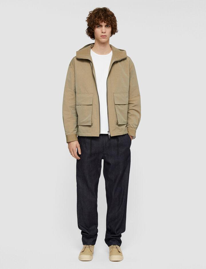 Joseph, Cotton Tasser Jacket, in Taupe