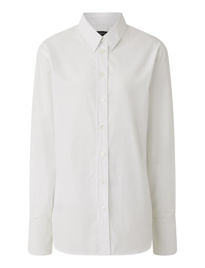 Joseph, Light Poplin Joe Shirt, in OFF WHITE