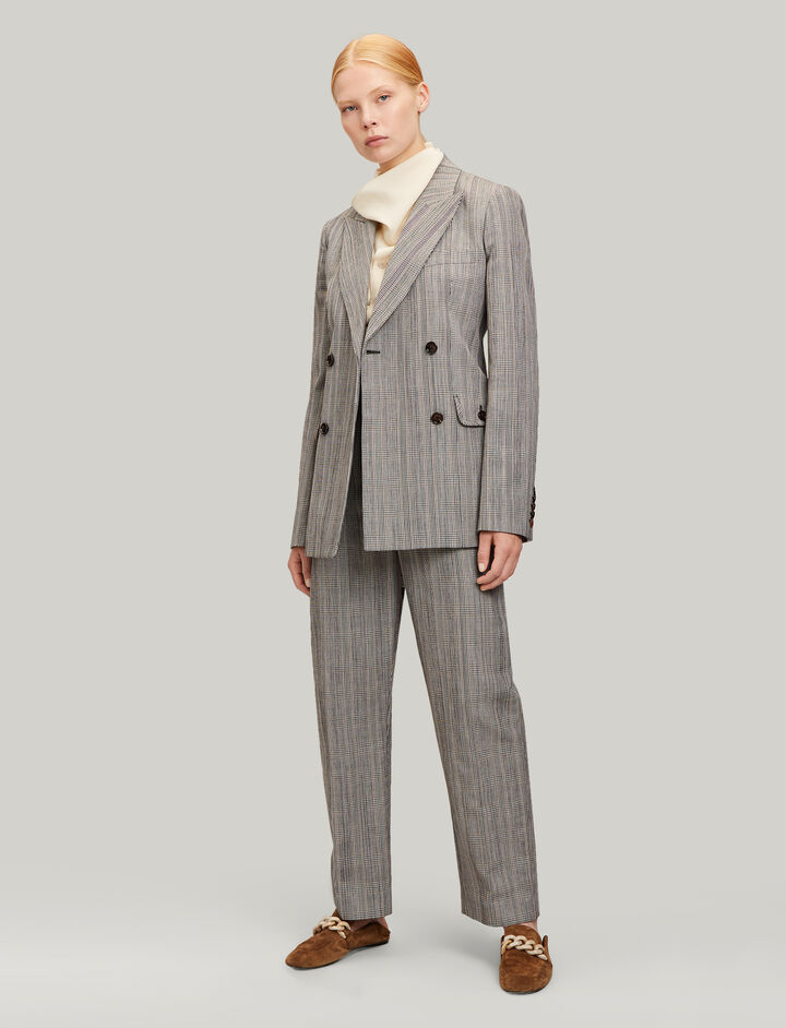 Joseph, Moore Houndstooth Check Jacket, in BEIGE