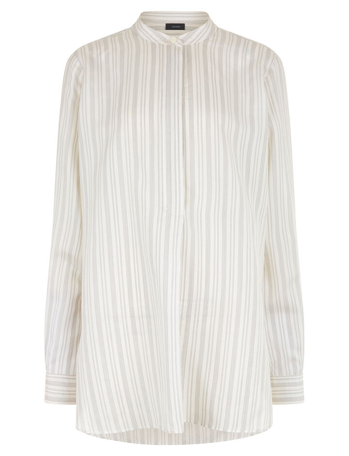 Joseph, Mara Blanket Stripe Blouse, in ECRU