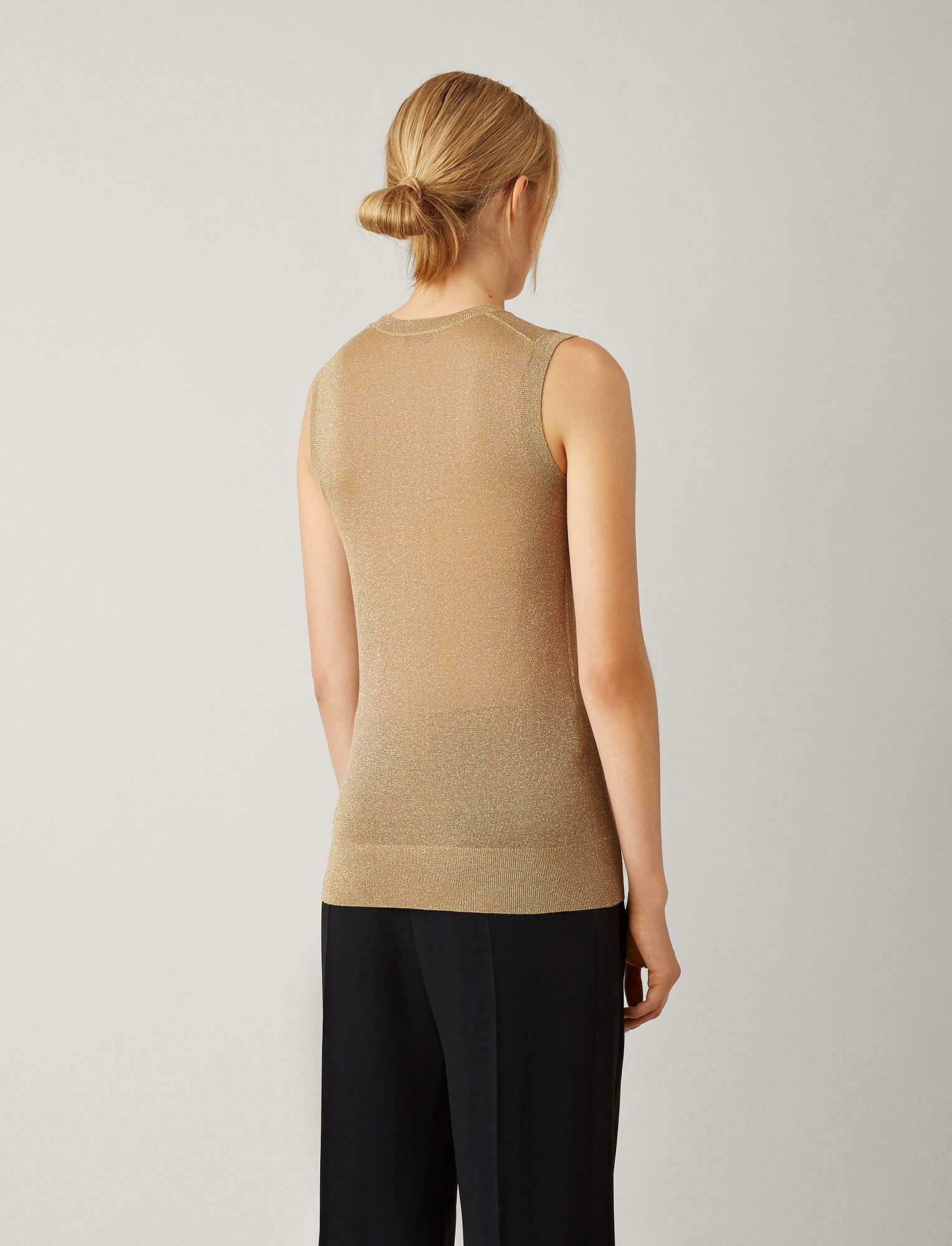 Joseph, Tank Lurex Knit, in TAN