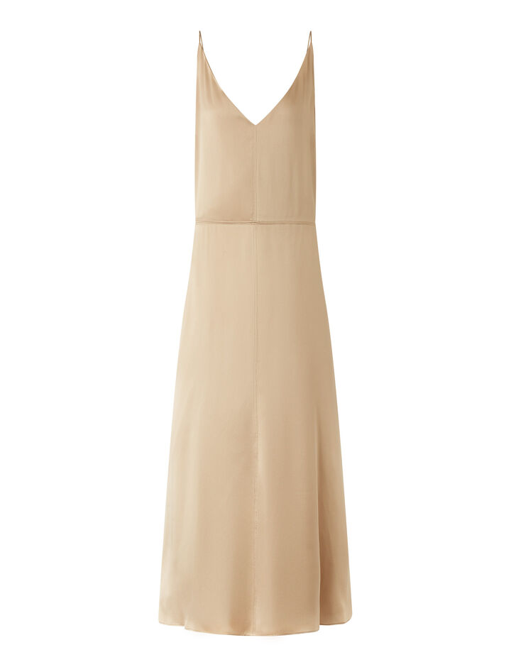 Joseph, Delphia Texture Satin Dresses, in Blush