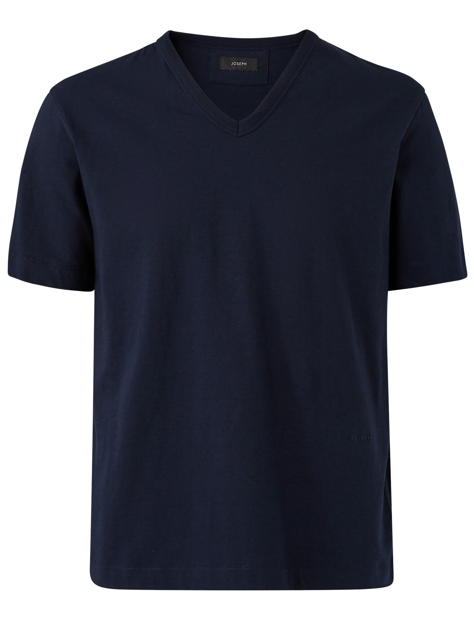 Joseph, T-shirt Perfect Tee en jersey à col en V, in NAVY