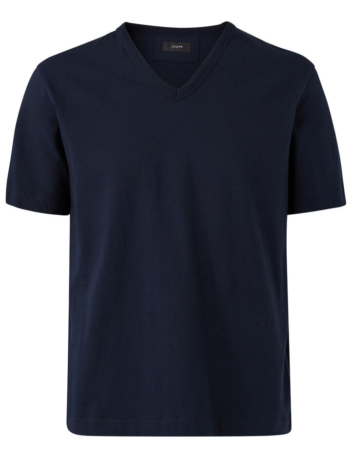 Joseph, V Nk Ss-Perfect Tee, in NAVY