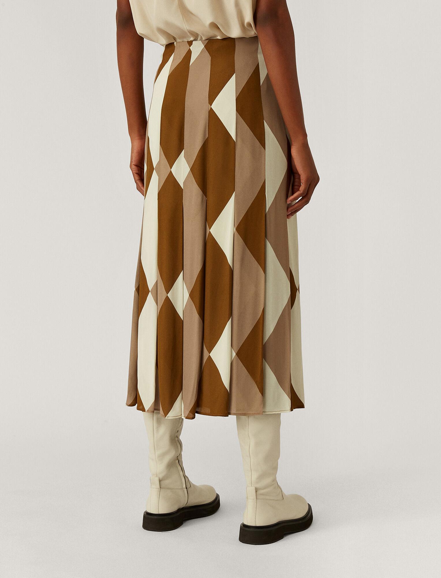 Joseph, Saria Argyle Print Skirt, in Cumin