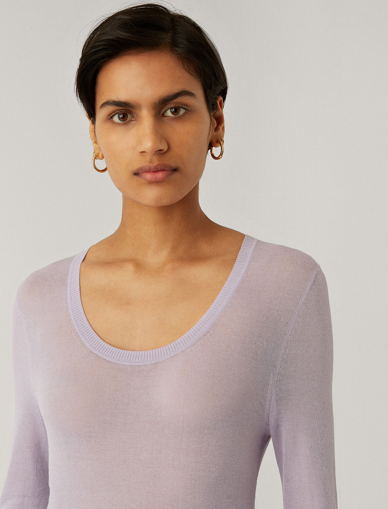 Joseph, Sheer Cotton Knit, in PARME