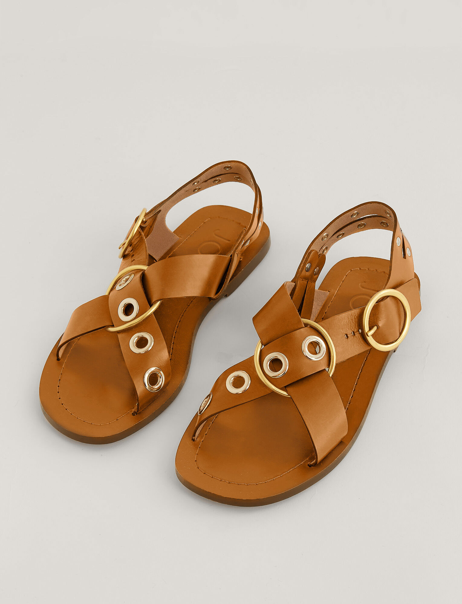 Joseph, Gaya Leather Sandal, in TAN