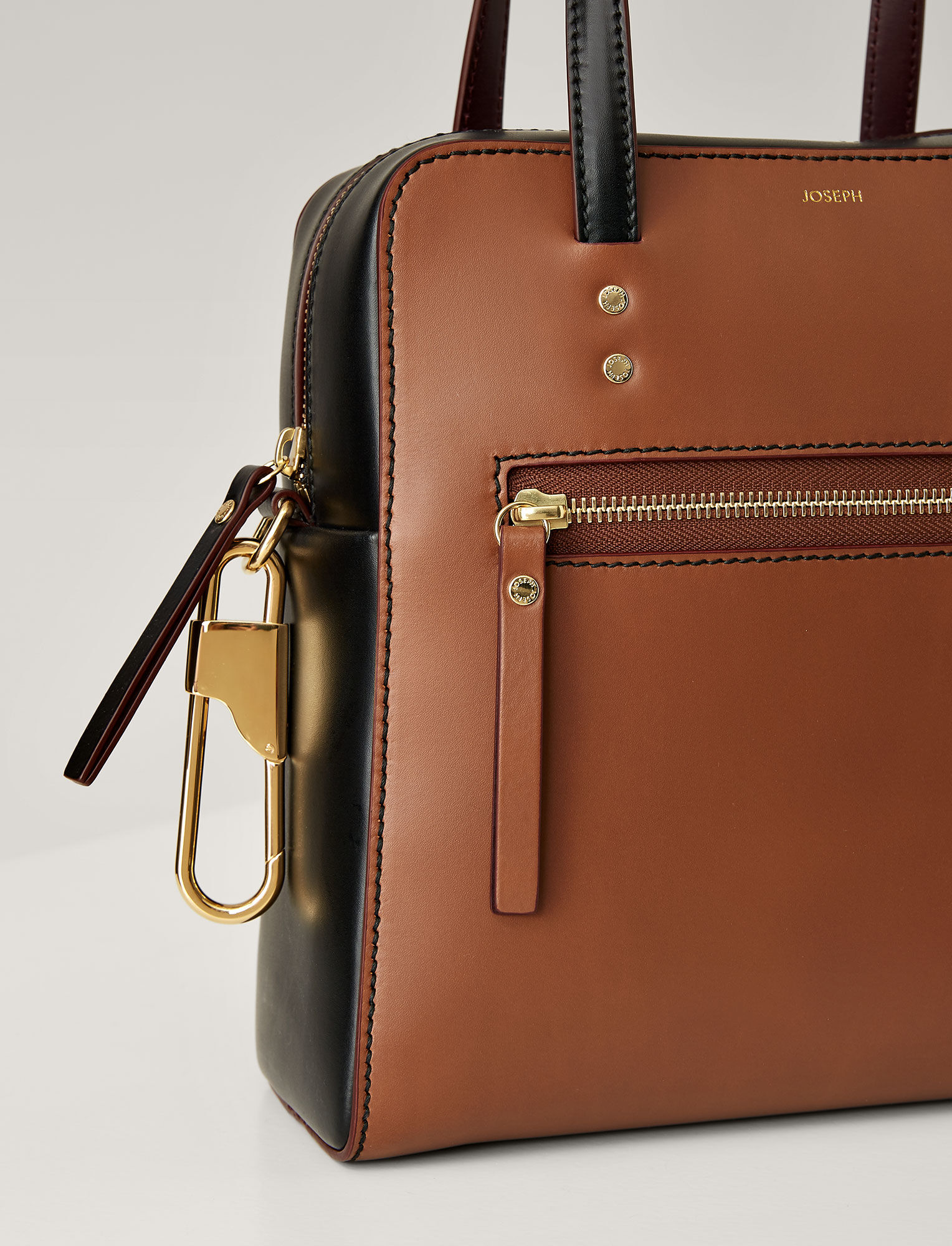 Joseph, Leather Ryder 25 Bag, in SADDLE