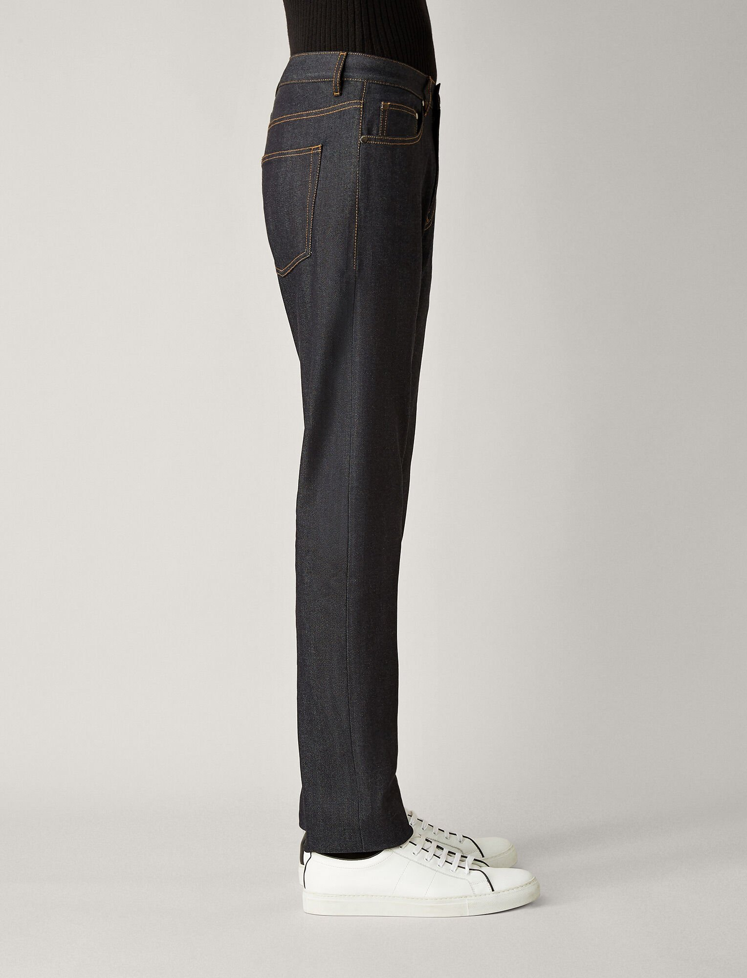 Joseph, Denim Stretch James Trousers, in DARK INDIGO