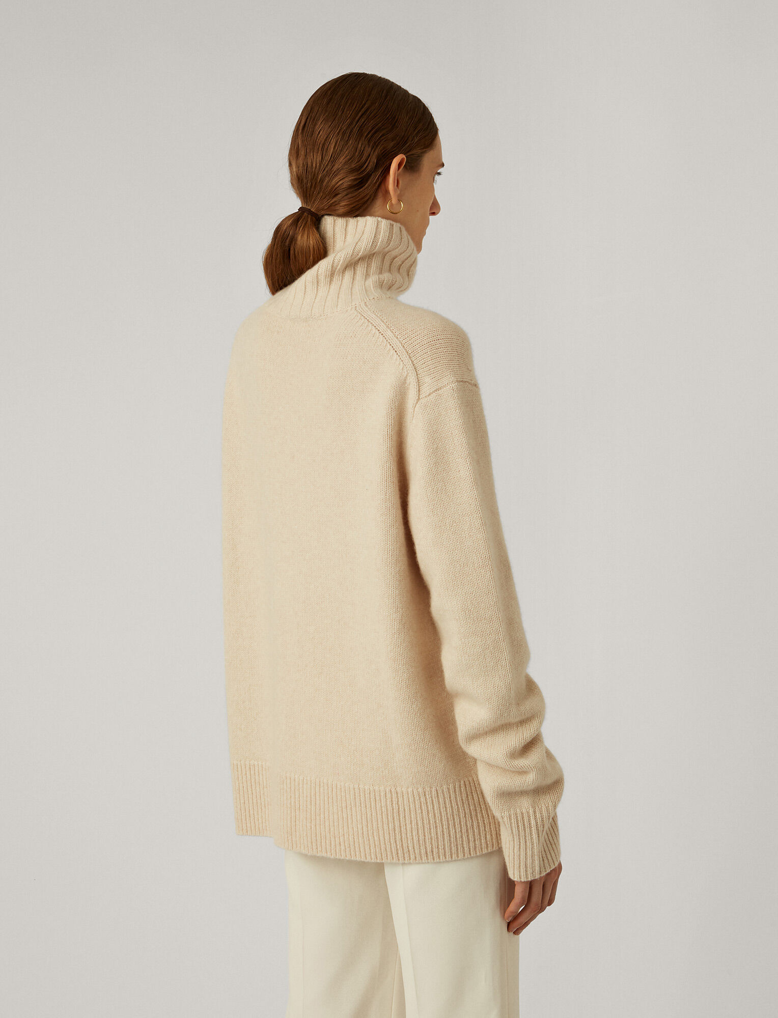 Joseph, Cashmere Luxe High Neck Jumper, in IVORY