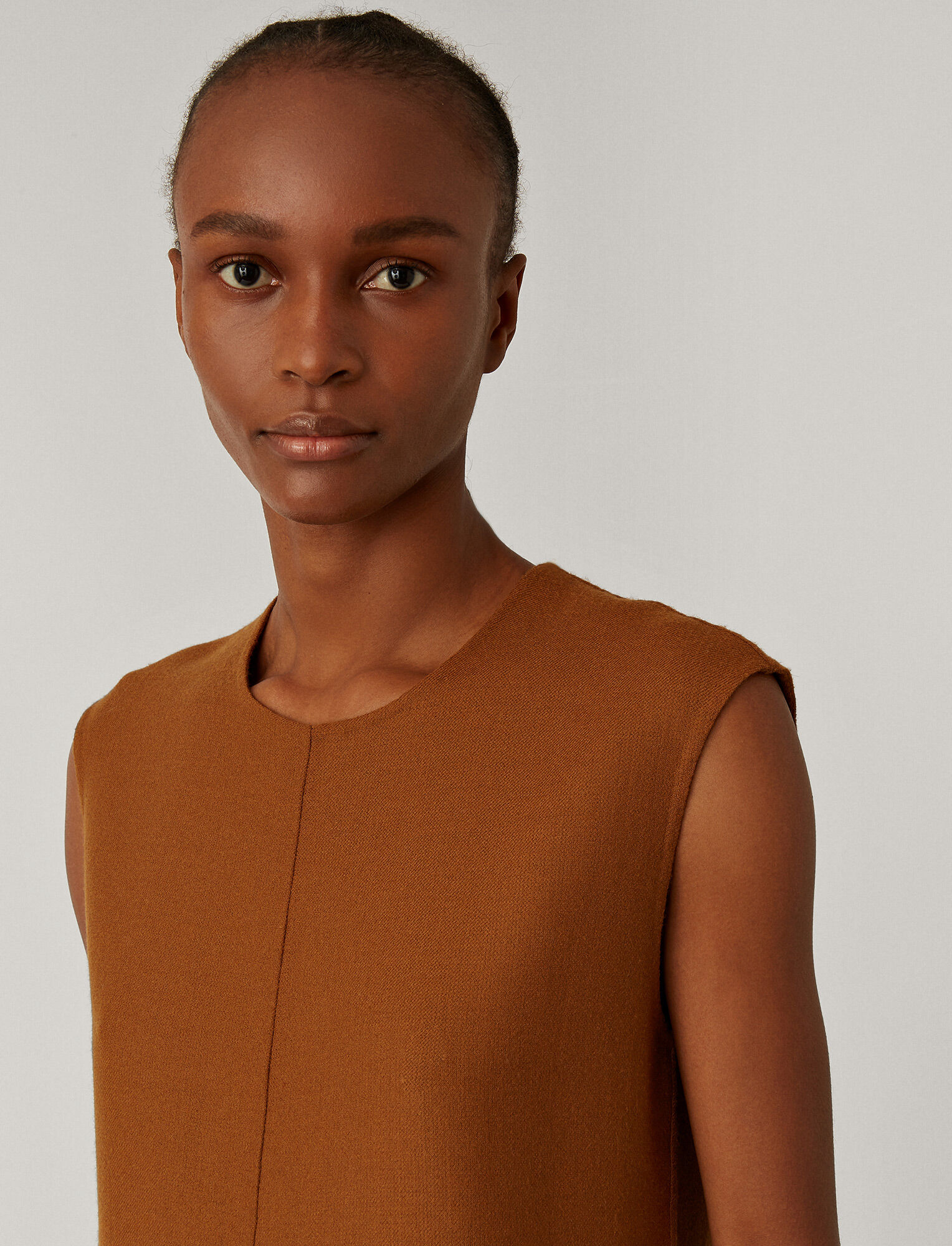 Joseph, Dantine Stretch Double Face Dress, in Cognac