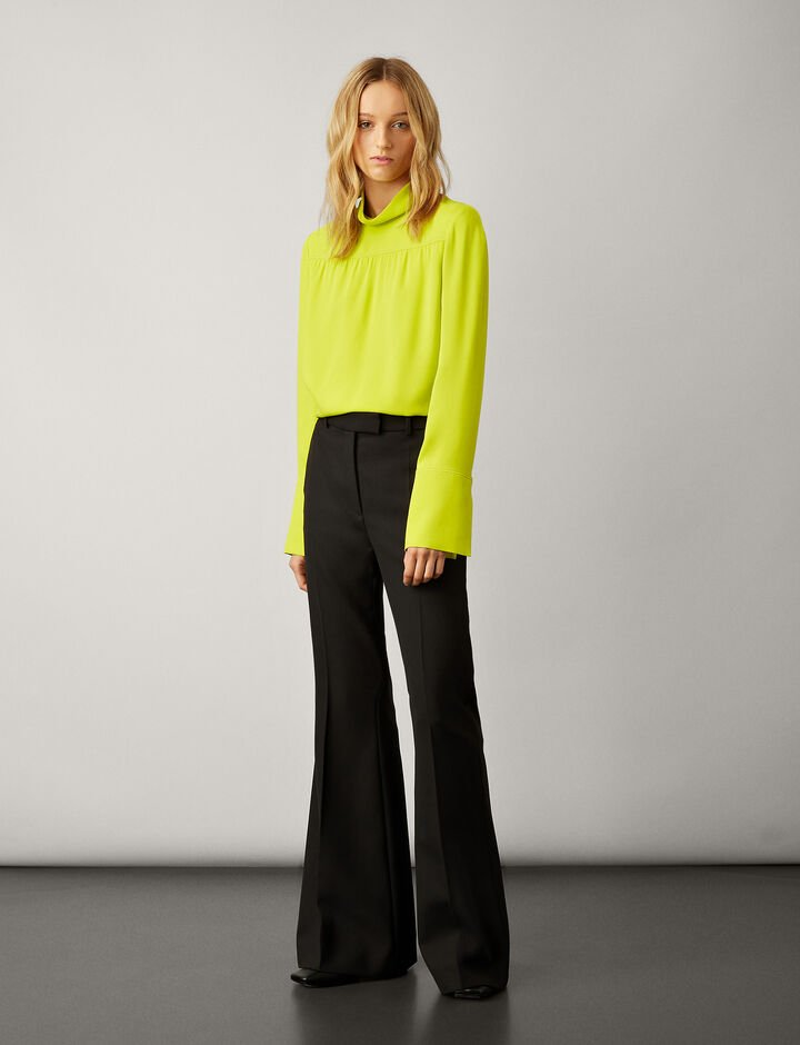Joseph, Mabon Silk Crepe Blouse, in LIME