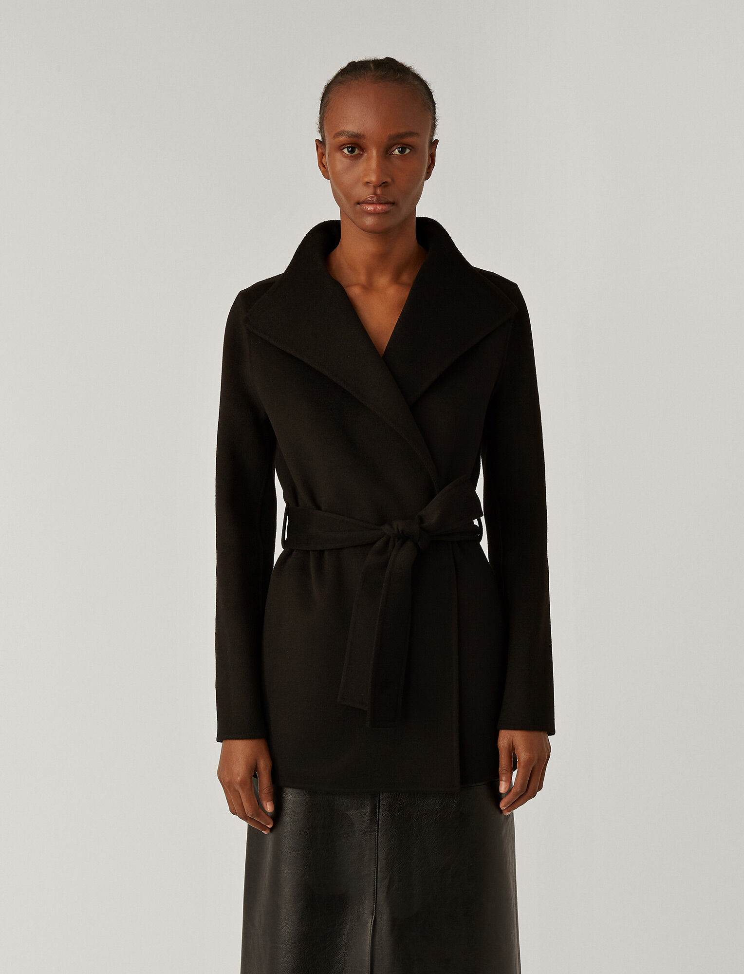 Joseph, Lima Short Double Face Cashmere Coat, in BLACK