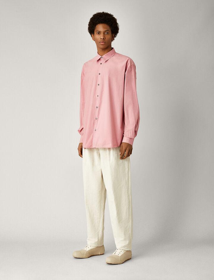 Joseph, Mer Parachute Poplin Shirt, in PINK
