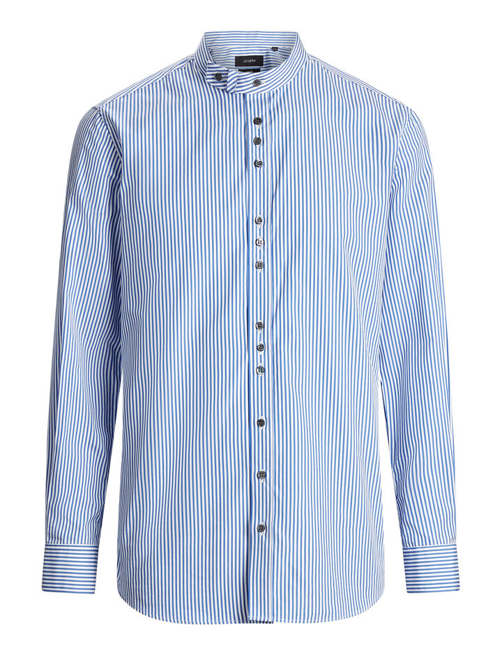 Joseph, Jarvis Cupro Pinstripes Mix Shirt, in