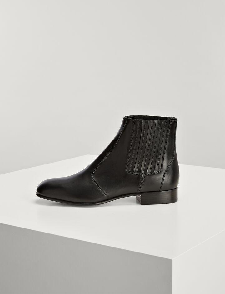 Joseph, Calf Leather Pixie Boot, in BLACK