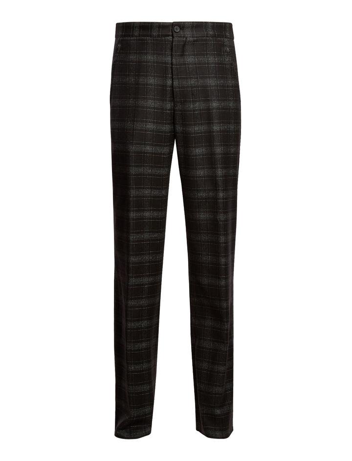 Joseph, Edgar Broken Check Trousers, in BLACK