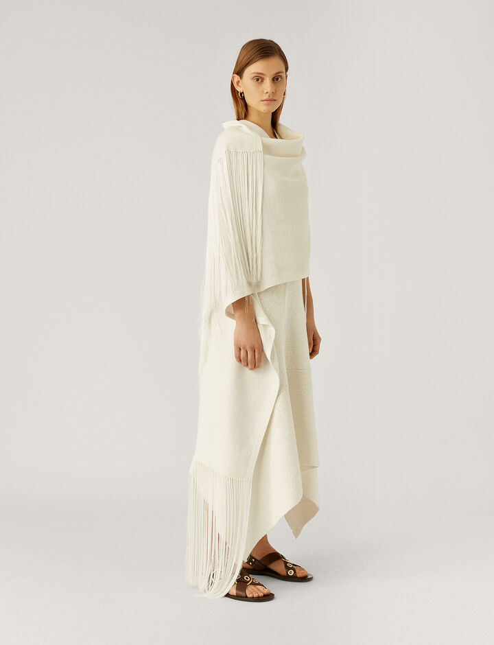Joseph, Scarf-Crispy Cotton, in WHITE