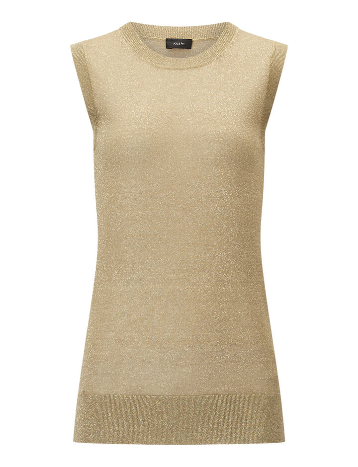 Joseph, Tank-Lurex, in TAN