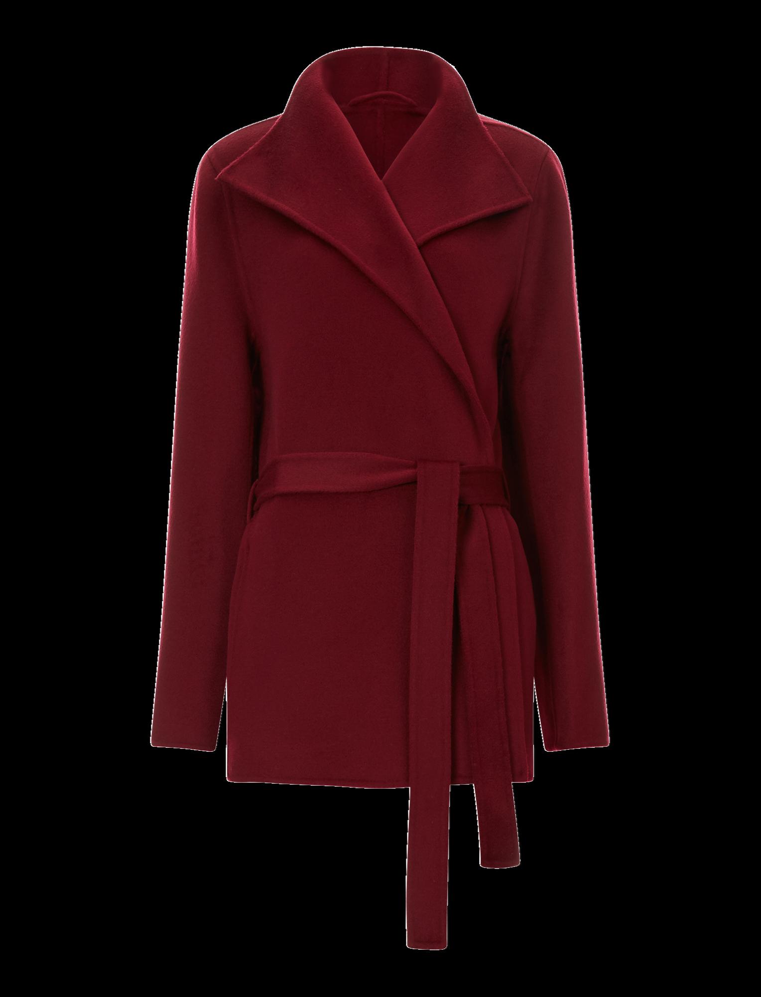 Joseph, Lima Short Double Face Cashmere Coat, in GARNET