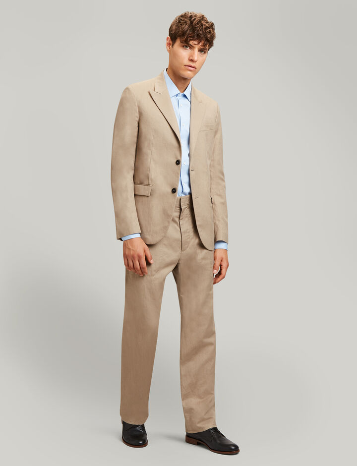 Joseph, Plymouth Linen Cotton Blend Trousers, in SAND