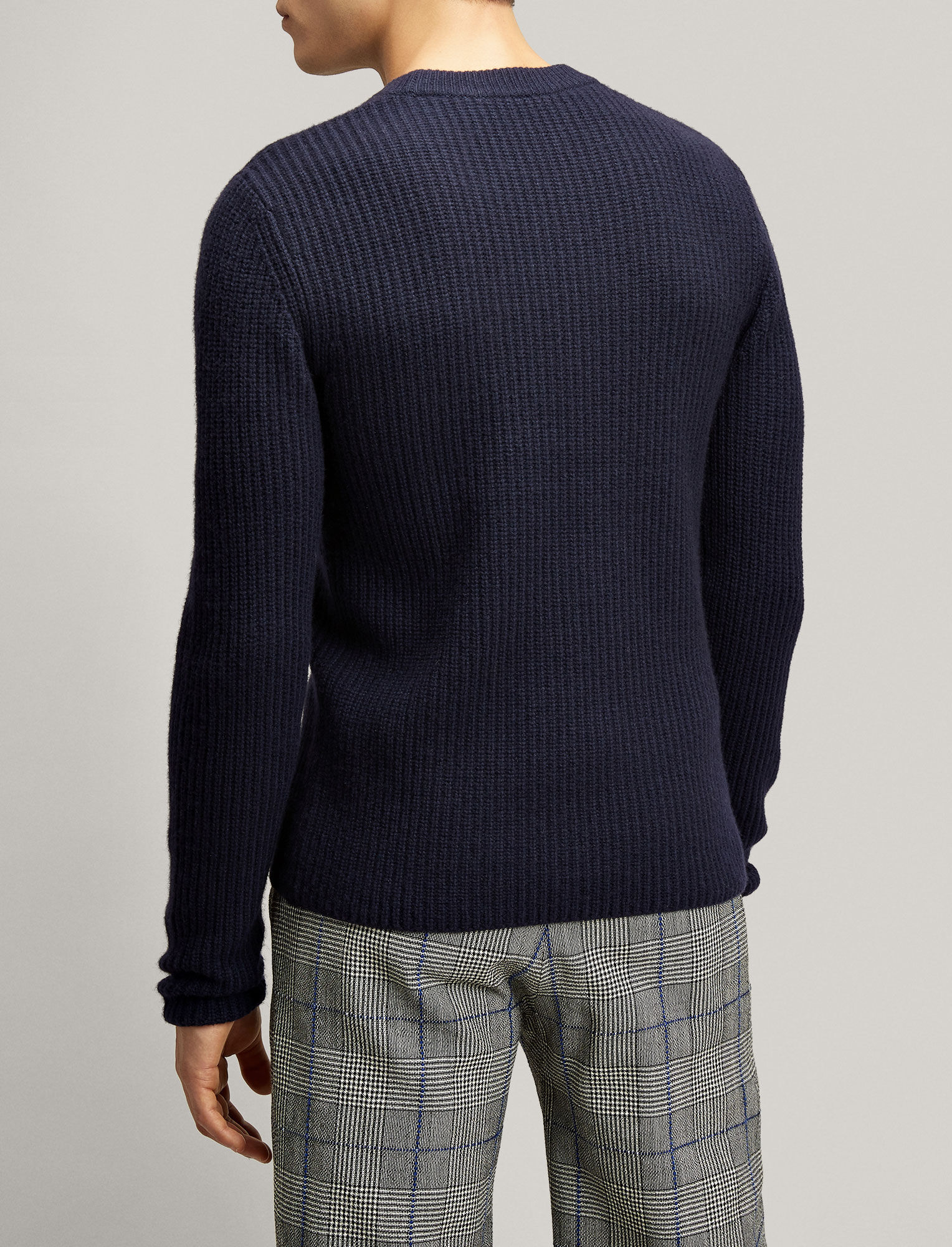 Joseph, Military Cashmere Sweater, in NAVY