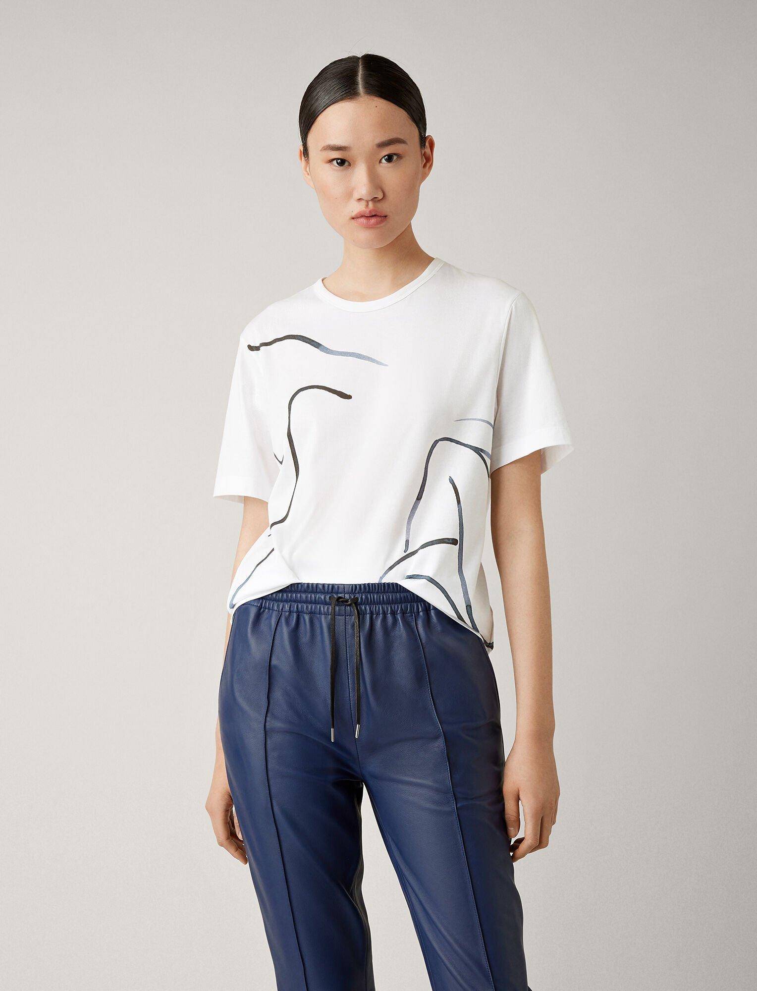Joseph, Printed Jersey Tee, in WHITE