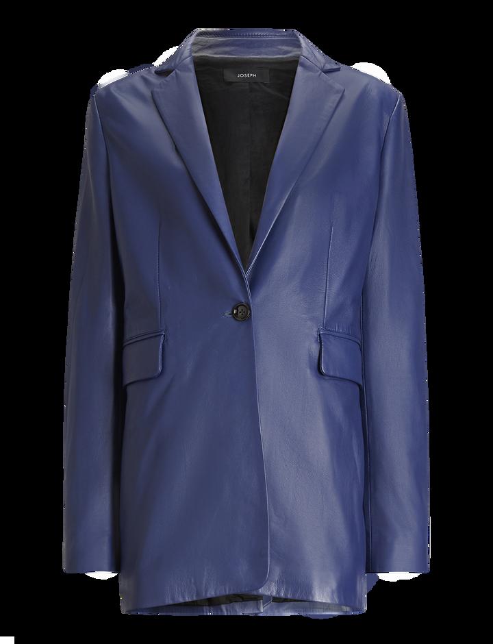 Joseph, Lorenzo Leather Jacket, in SAPHIRE