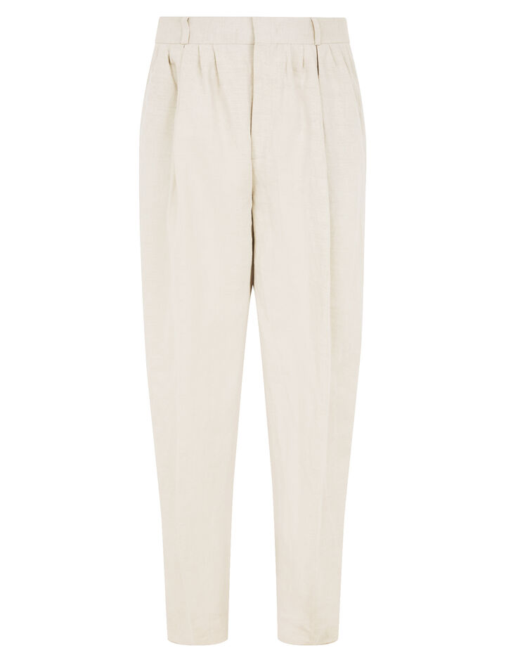Joseph, Padstow Cotton Linen Slub Trousers, in STONE