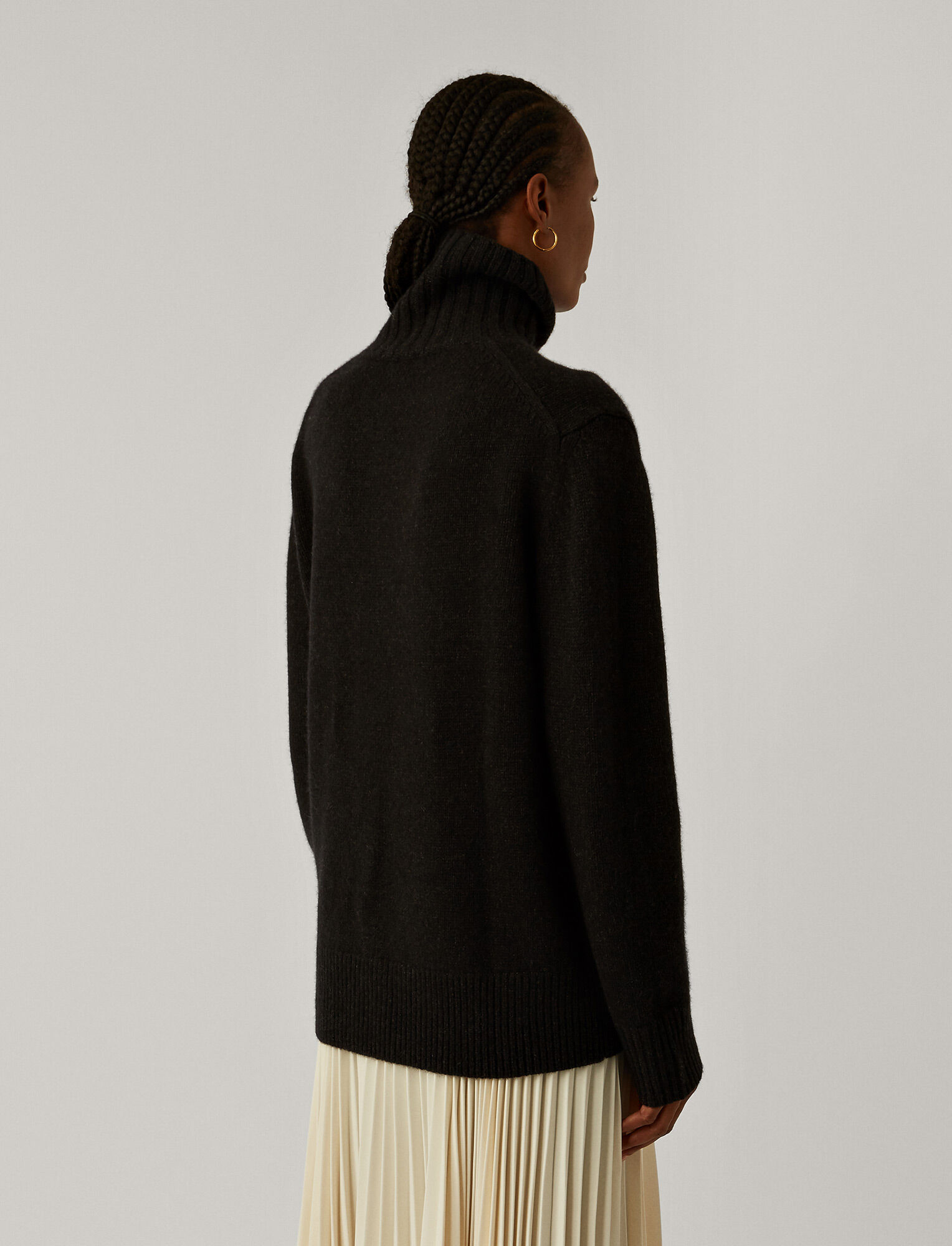 Joseph, Cashmere Luxe High Neck Jumper, in ANTHRACITE