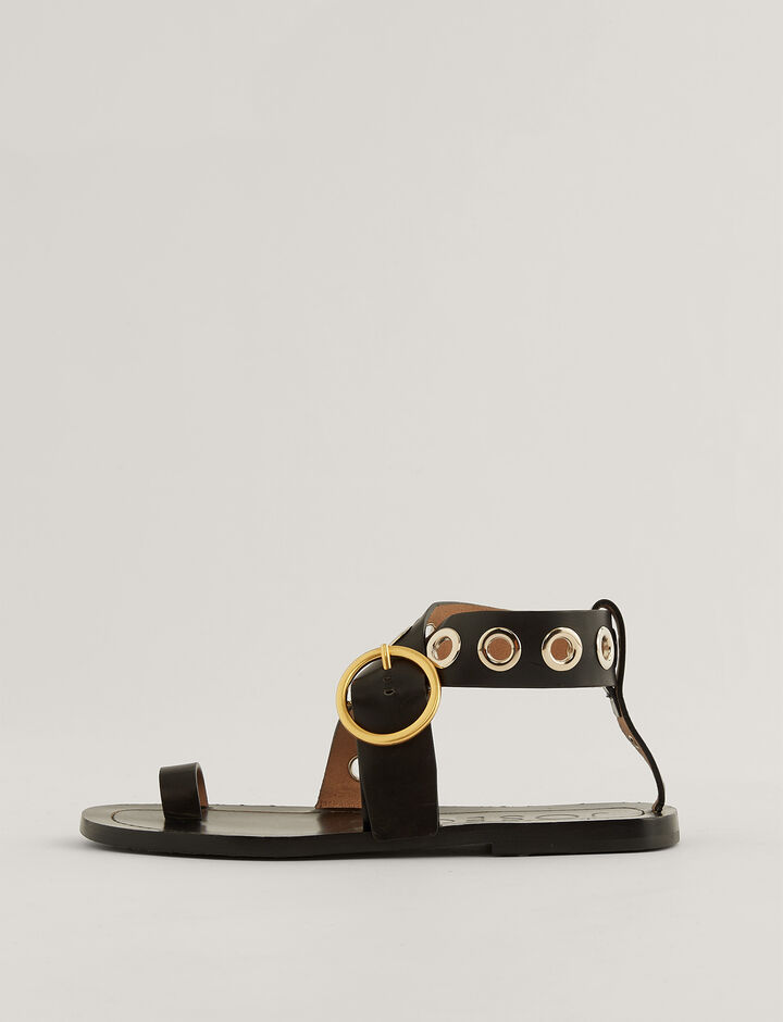 Joseph, Gava Sandals, in BLACK