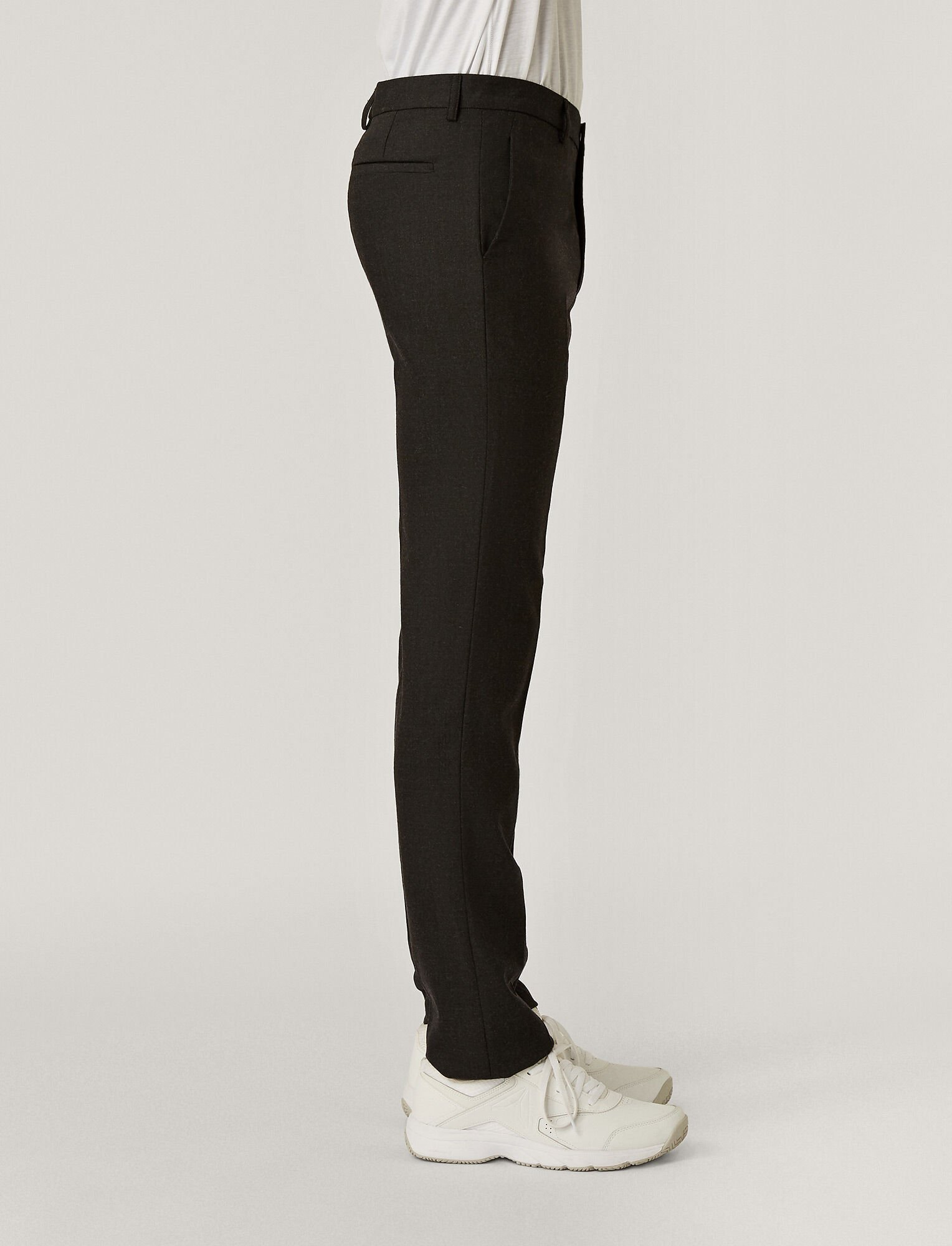Joseph, Jack Flannel Stretch Trousers, in CHARCOAL