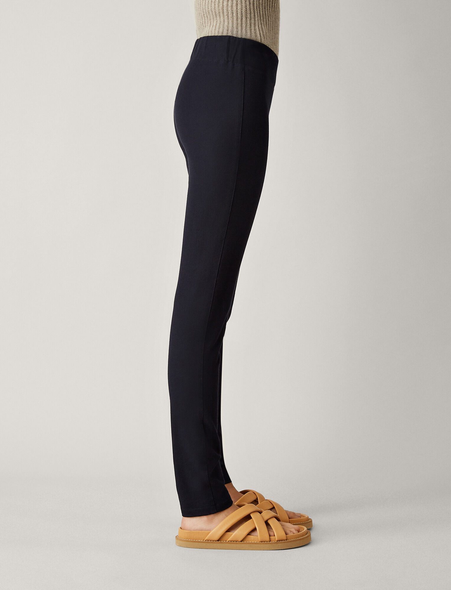 Joseph, Gabardine Stretch Legging, in NAVY