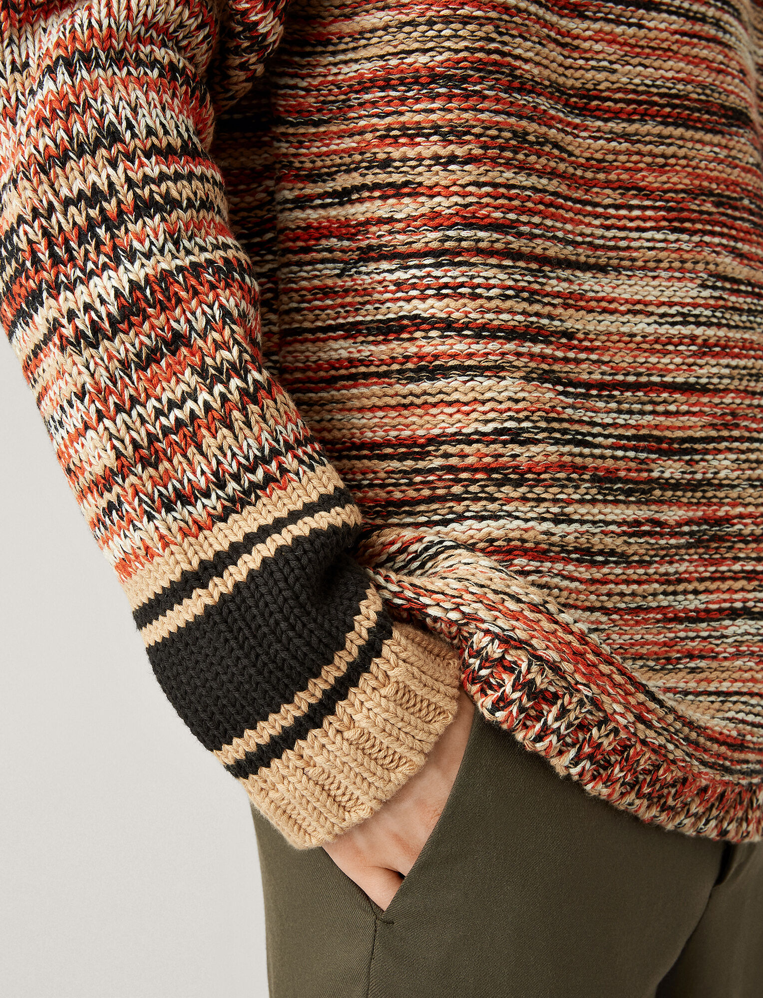 Joseph, Oversized Sweater Chunky Mouline Knit, in CAMEL COMBO