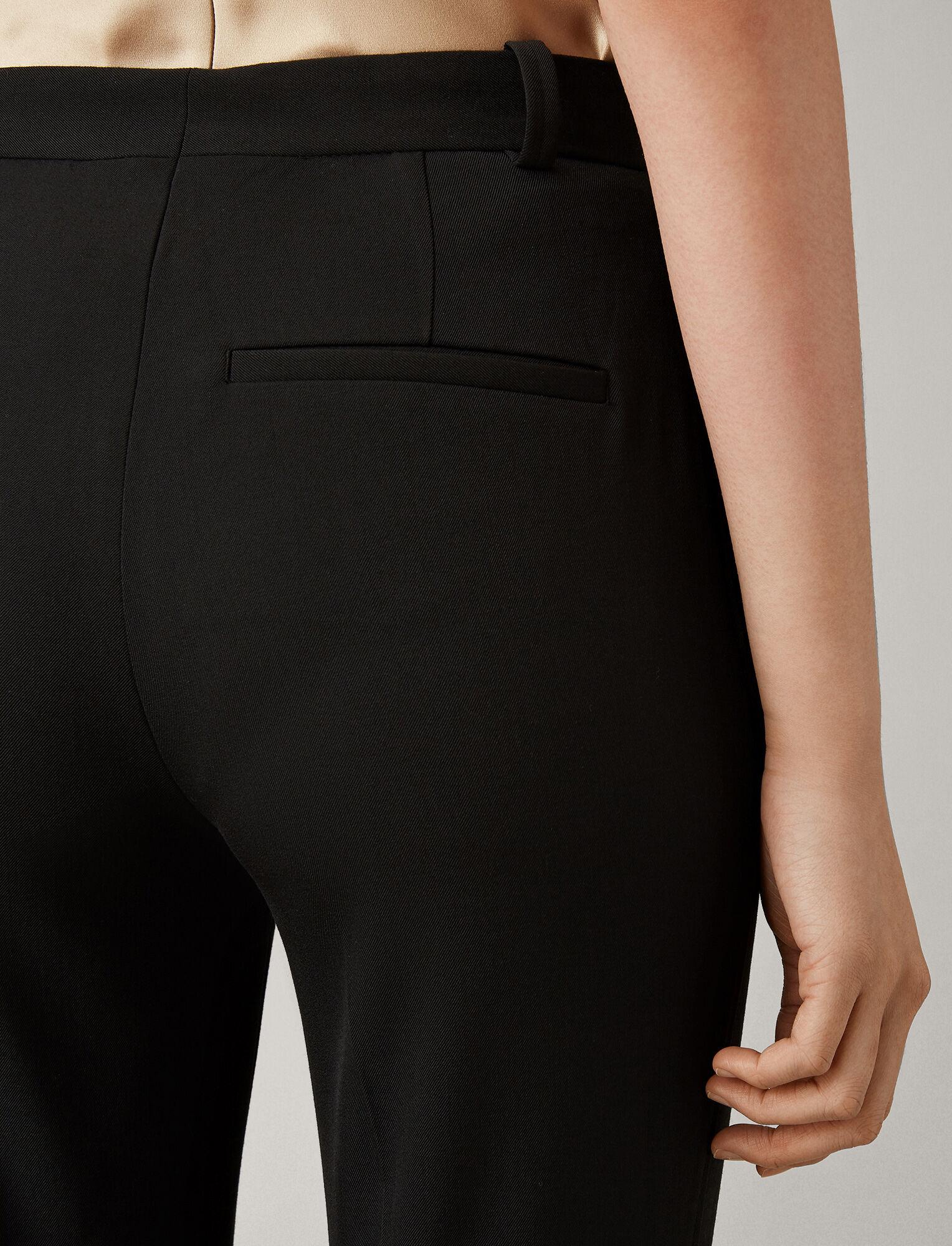 Joseph, Zoom Comfort Wool Trousers, in BLACK