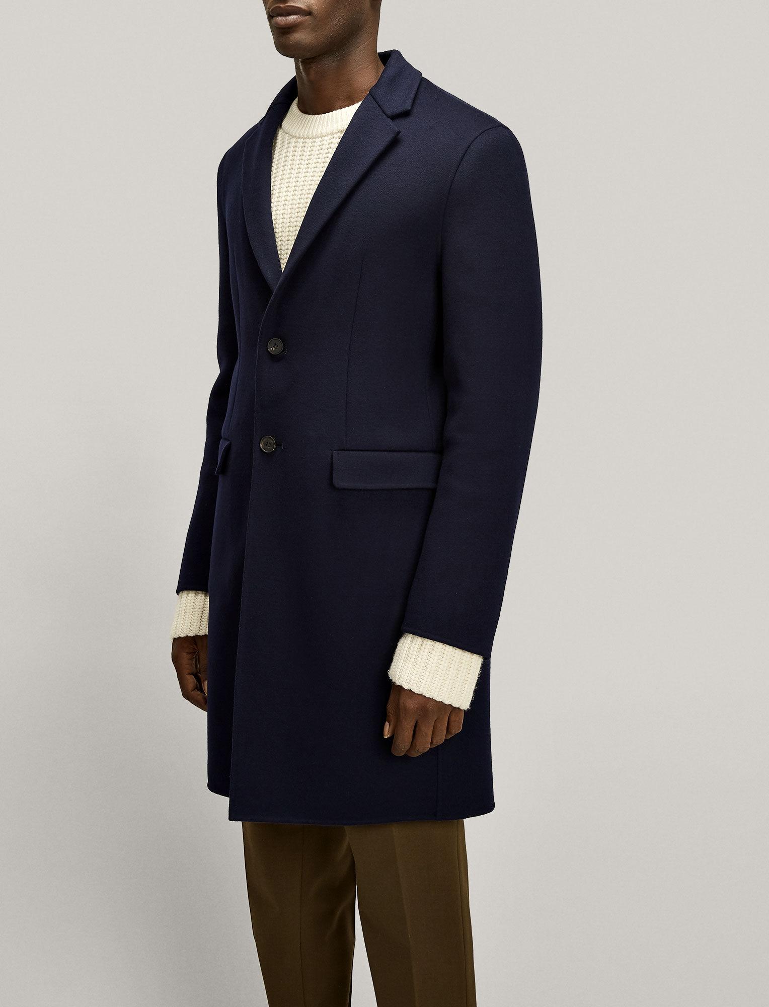 Joseph, Armand Luxe Double Wool Coat, in NAVY