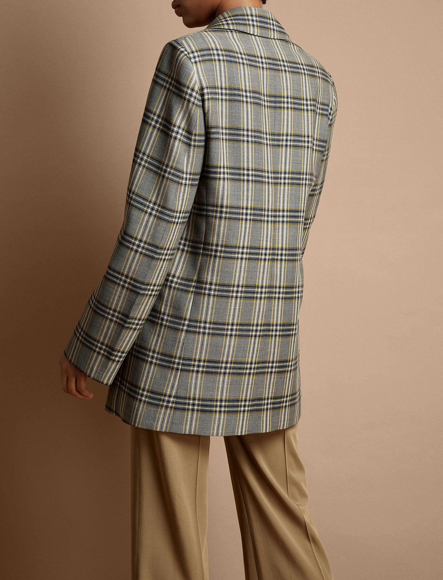 Joseph, Gemina Tropical Check Jacket, in MULTICOLOUR