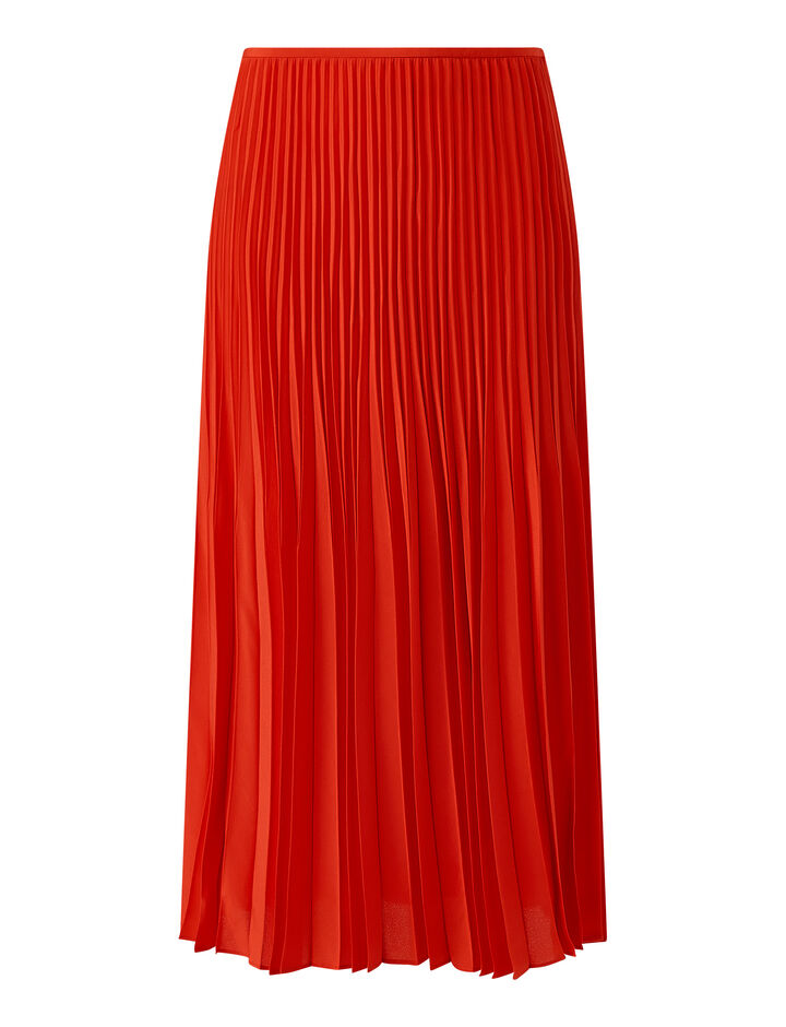 Joseph, Sorence Crepe De Chine Skirt, in FLAME
