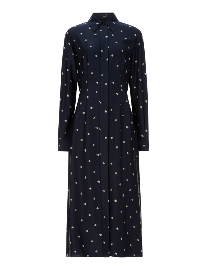 Joseph, Turner Scribble Spot Dress, in NAVY