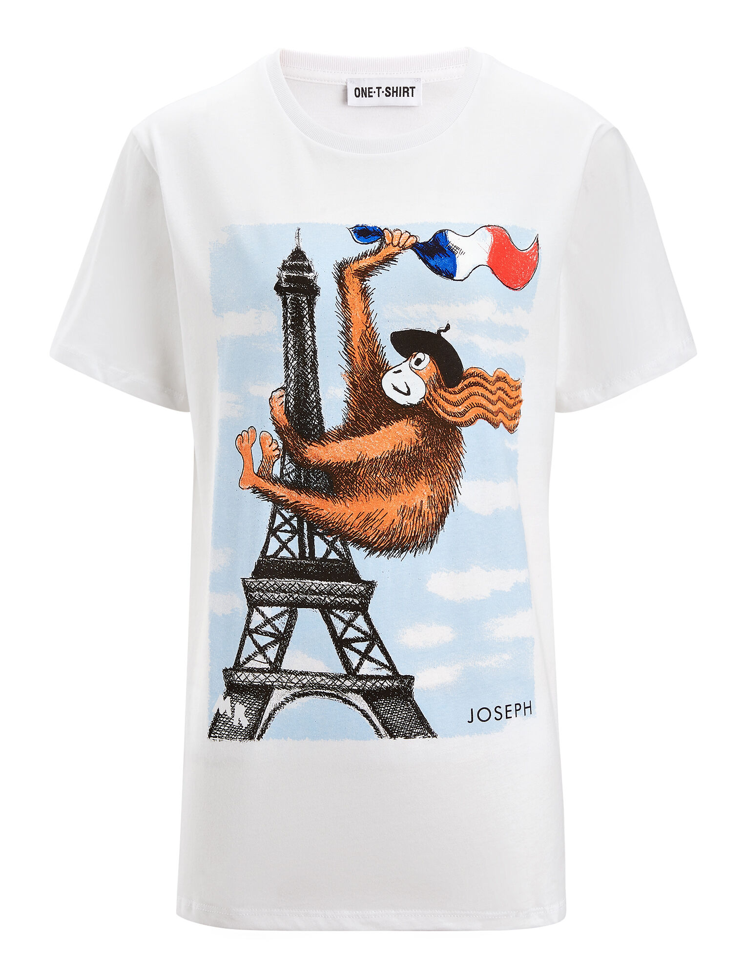 Joseph, GingerNutz Tower + Flag Tee, in WHITE