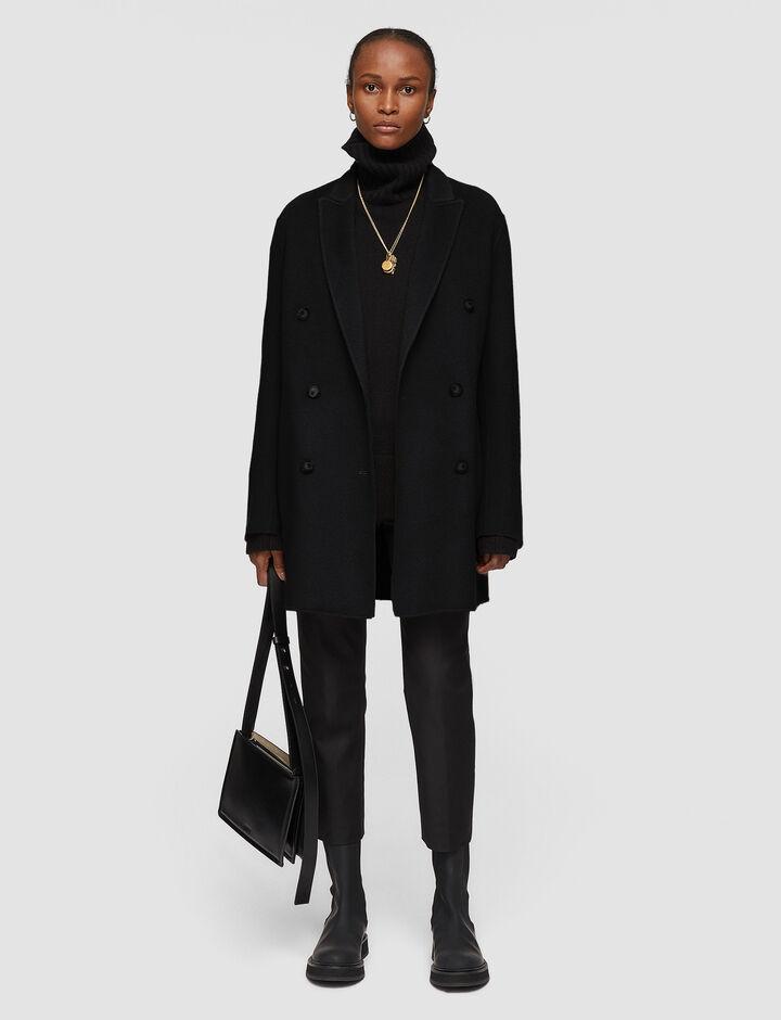 Joseph, Double Face Cashmere Cadyn Coat, in BLACK