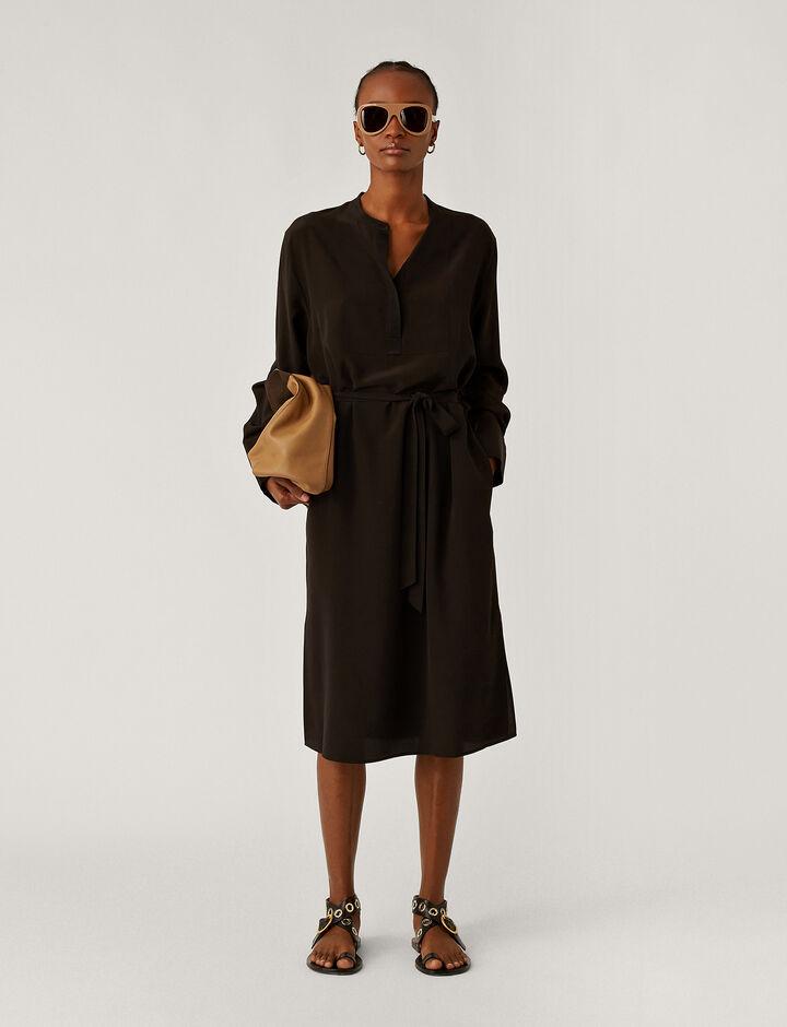 Joseph, Datya Crepe De Soie Dresses, in Black