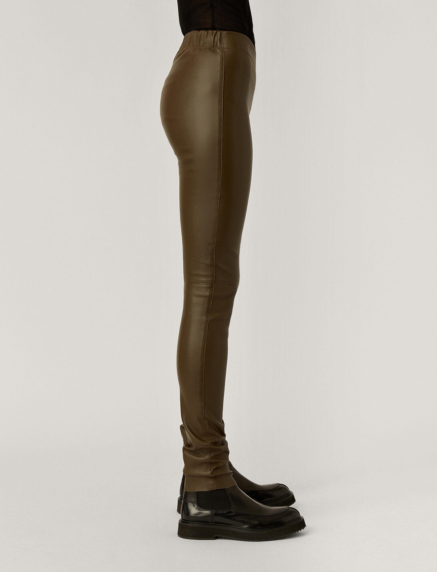 Joseph, Leather Stretch Legging, in Moss