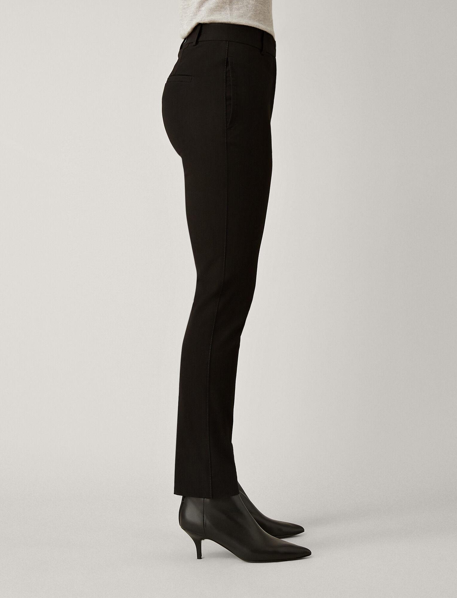 Joseph, Pantalon Zoom en gabardine stretch, in BLACK