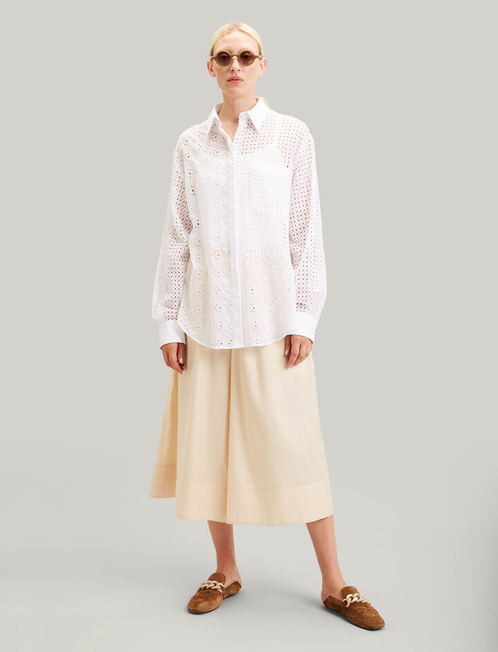 Joseph, Gibson Eyelet Patch Blouse, in WHITE