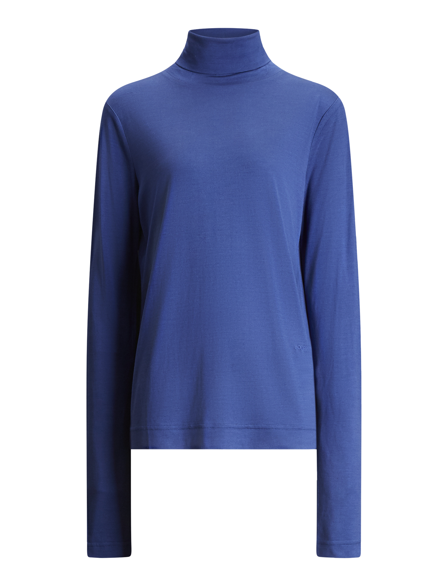 Joseph, Roll Neck Silk Jersey, in SAPHIRE